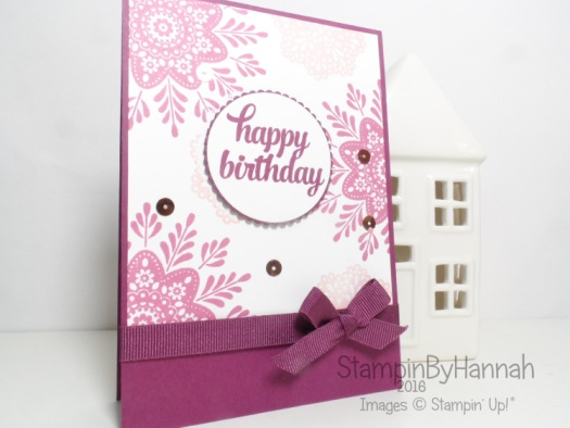 Simple Birthday card using Frosted Medallions and Tin of Cards from Stampin' Up! UK