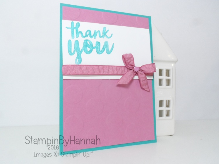 Case Teneale Williams Thank you card using Thankful Thoughts From Stampin' Up! UK