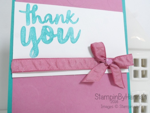 Simple Thank you card using Thankful thoughts from Stampin' Up! UK
