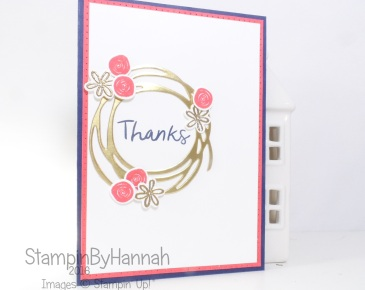 Thank you card featuring Swirly Bird and Thoughtful Thanks from Stampin' Up! UK