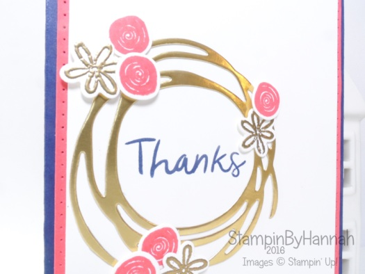 Swirly bird card using Stampin' Up! UK products