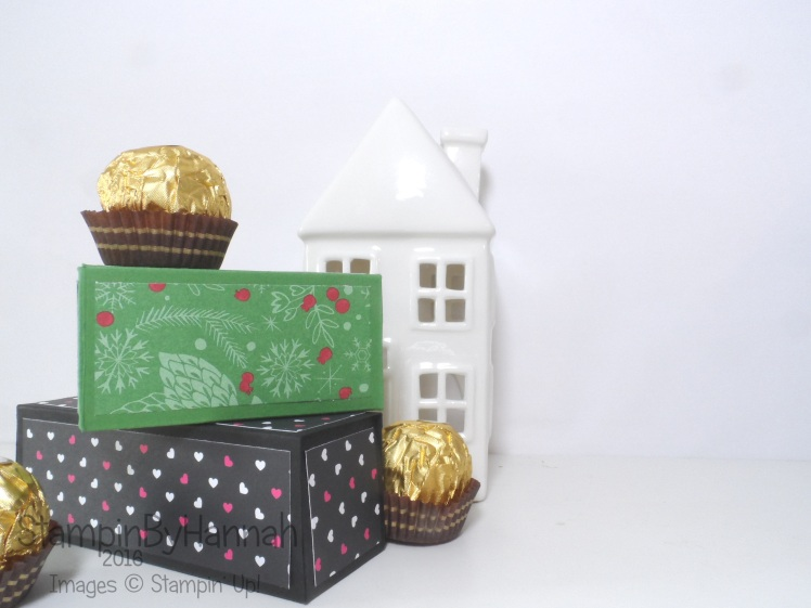 Make it monday video tutorial chocolate box using This Christmas from Stampin' Up!