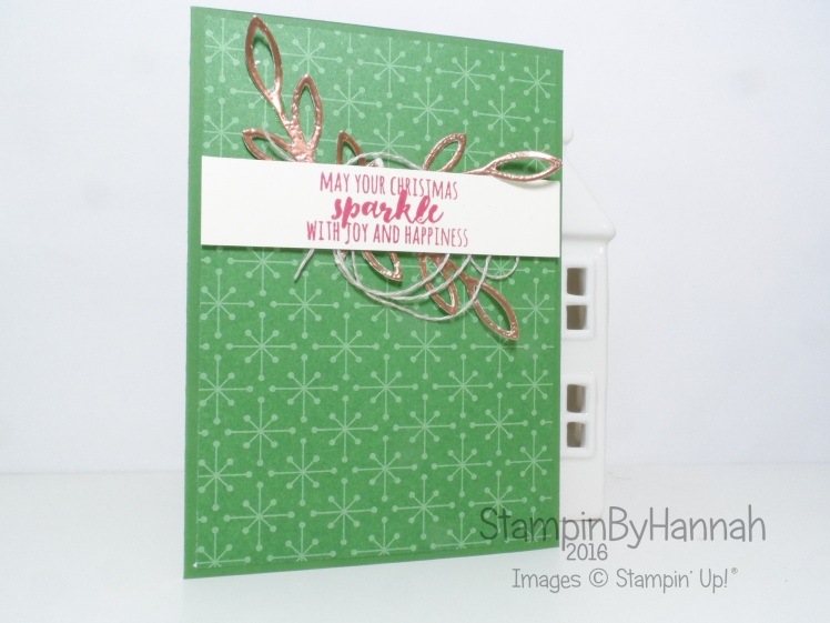 Make It Monday Faux Mental Embellishments Christmas Card using Christmas pines from Stampin' Up!