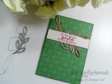 Make it monday metal embellishments video tutorial using Christmas pines and Rose Garden from Stampin' Up! UK