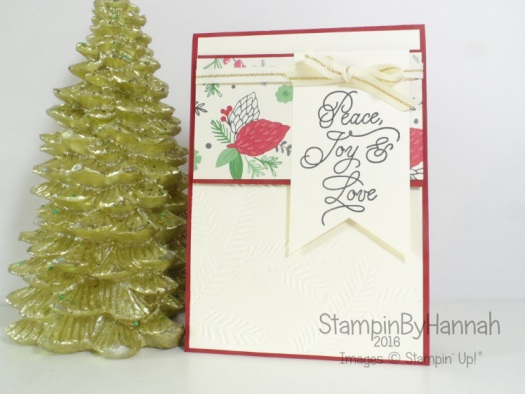 Christmas Card featuring Peace This Christmas from Stampin' Up! UK
