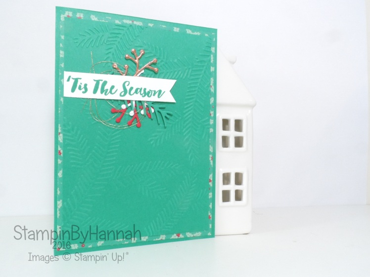 Simple Christmas Card using Christmas pines from Stampin' Up! Uk
