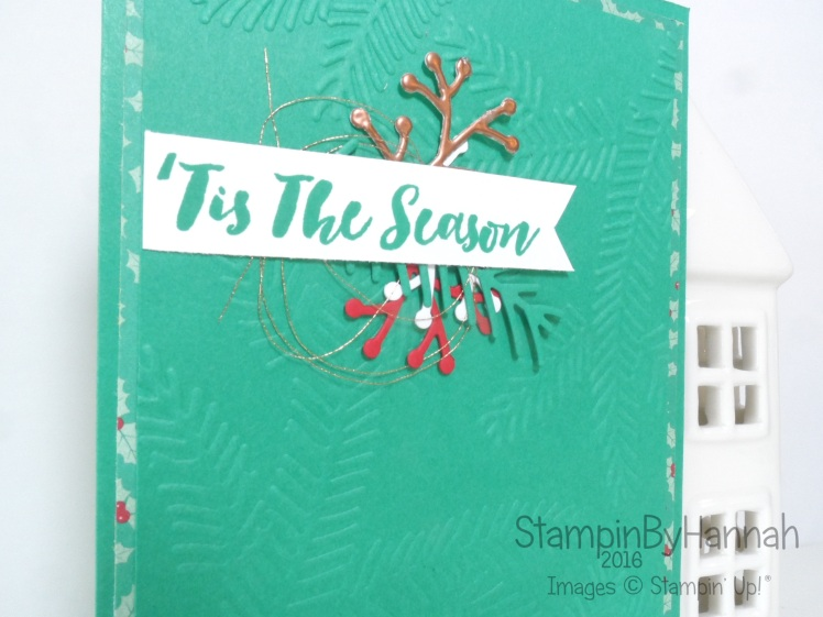 Pootles Christmas Card using Stampin' Up! Uk Christmas Pines