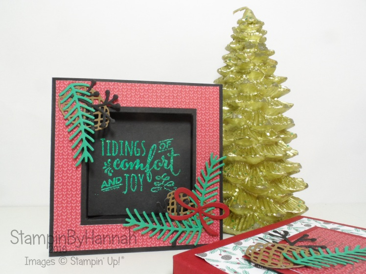 Christmas Pines Shadow Box Card using Stampin' Up! UK Products
