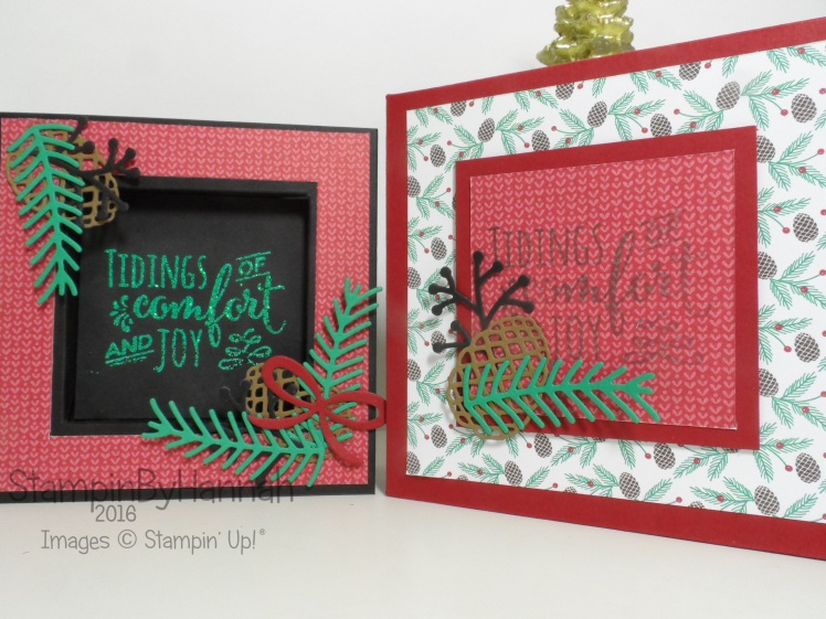 Christmas Card Shadow Box using Christmas Pines from Stampin' Up!