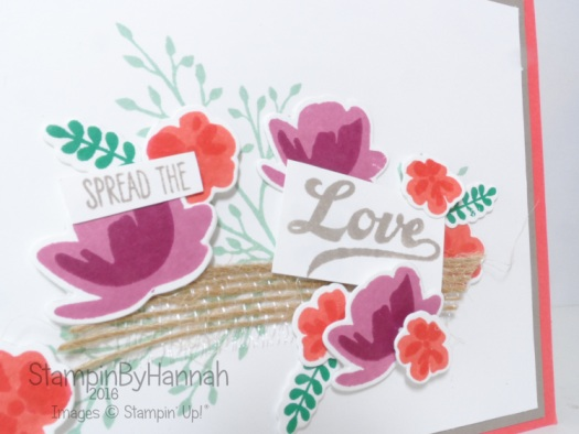 Simple die cutting card using jar of love from Stampin up uk