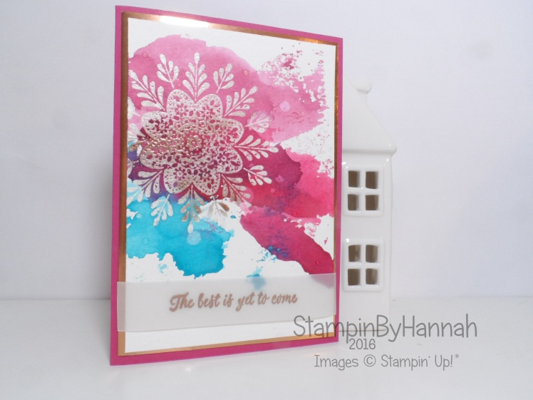 Watercolour card using Frosted Medallions from Stampin' Up! UK for the Simply Sketched Saturday Challenge