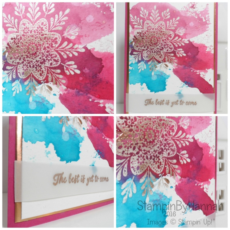 Simply Sketched Saturday Challenge Frosted Medallions watercolour card using Stampin' Up! UK products