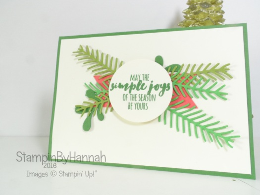 Christmas Pines Christmas Card Step it Up with Stampin' Up! products
