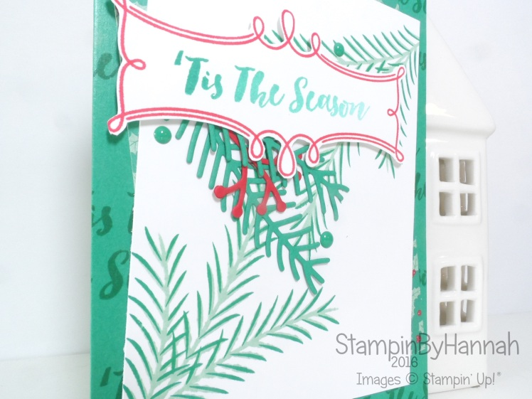 Christmas Card Using Christmas Pines from Stampin' Up! UK