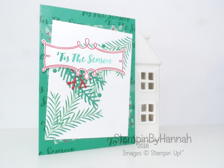 Tis the Season Christmas Card using Christmas Pines from Stampin' Up! UK