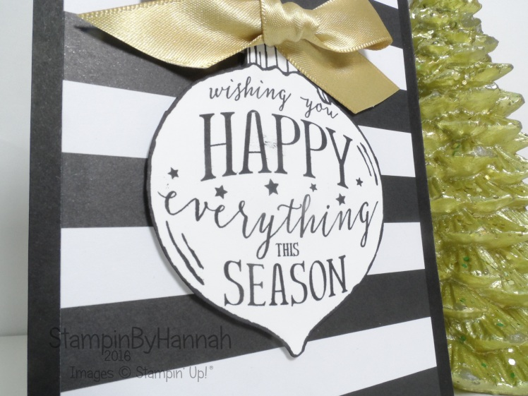 Happy Ornament Christmas Card using Stampin' Up! UK products