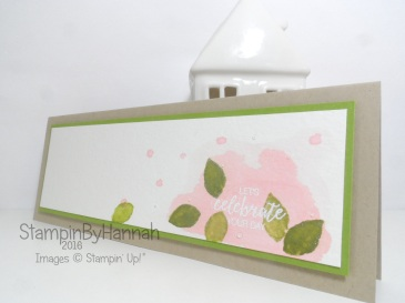 Watercolour Celebration card using Faux Watercolour and Bunch of Blossoms from Stampin' Up! UK