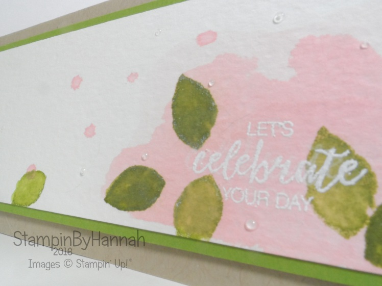 Watercolour Bunch of Blossoms congratulations card using Stampin' Up! UK products