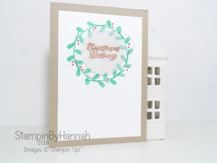 Flower Patch Christmas Card using Christmas Pines from Stampin' Up! UK