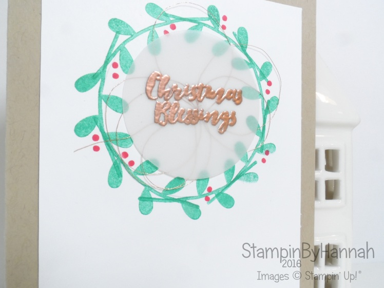 Christmas Wreath using Flower Patch and Christmas Pines from Stampin' Up! UK