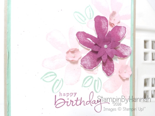 Global Design Project 057 using Garden in Bloom from Stampin' Up! UK