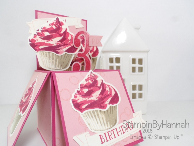 Giant card in a box using Sweet Cupcake from Stampin' Up! UK