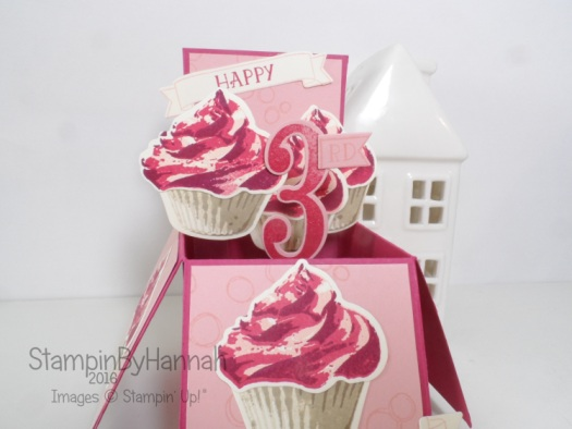 Giant card in a box using Sweet Cupcake and Number of Years from Stampin' Up! UK