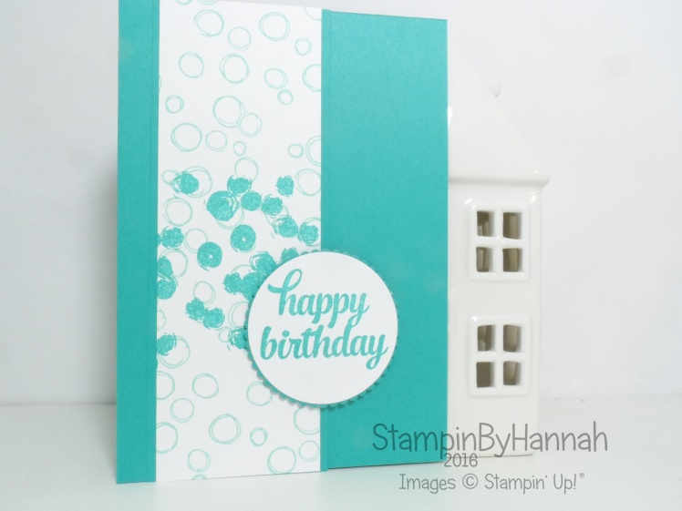 Easy Birthday card using Tin of Cards and Playful Backgrounds from Stampin' Up! UK