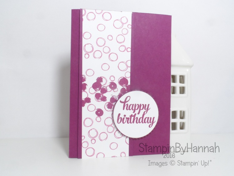 How to make a quick and easy birthday card video tutorial using products from Stampin' Up! UK
