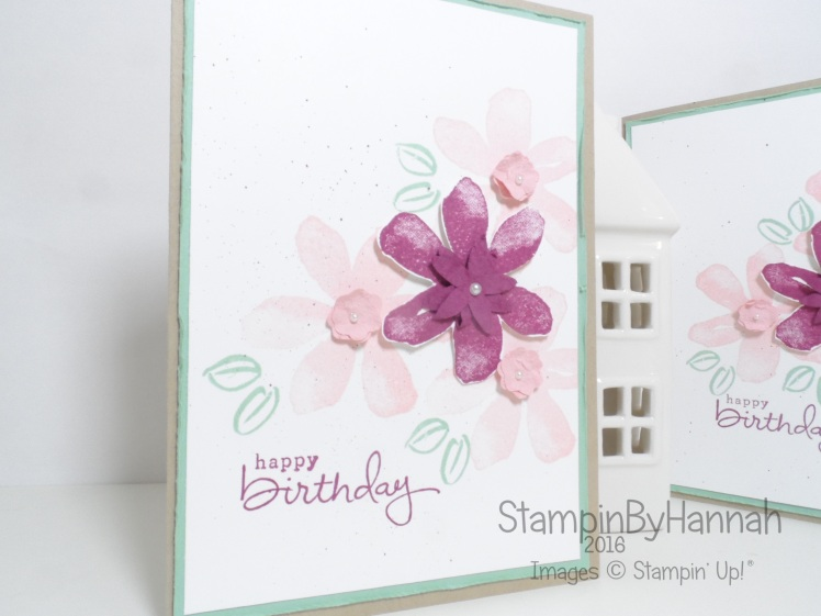 Make It Monday Faux Suede Technique using Garden In Bloom from Stampin' Up! UK