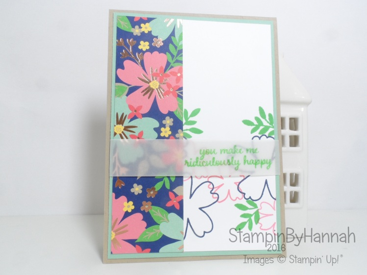 Monthly Card Class using Love and Affection from Stampin' Up! UK