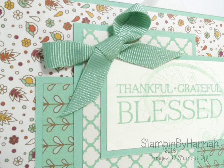 Petals and Paisleys Designer Series Paper Card using Stampin' up! UK