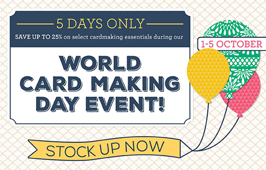 Stampin' Up! World card making day special offer