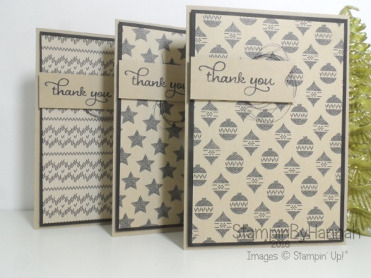 Warmth and Cheer Thank You cards Stampin' Up! Uk