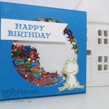 Simple Shaker Birthday Card using Guy Greetings and Lots of Love from Stampin' Up! UK