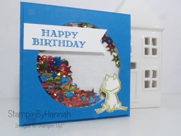 Simple Shaker Birthday Card Using Guy Greetings And Lots Of Love From Stampin Up