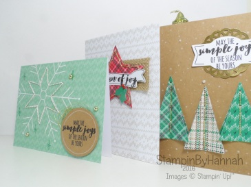 Stitched with Cheer Project kit from Stampin' Up! UK