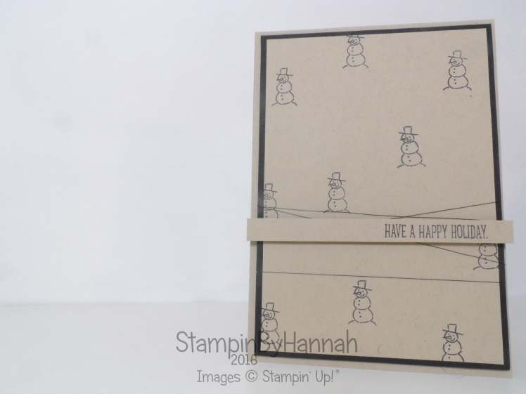 Christmas Card video tutorial using Glamper Greetings from Stampin' Up! UK