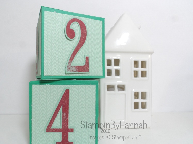 Christmas Countdown Perpetual Advent Calendar using Number of Years from Stampin' Up! UK