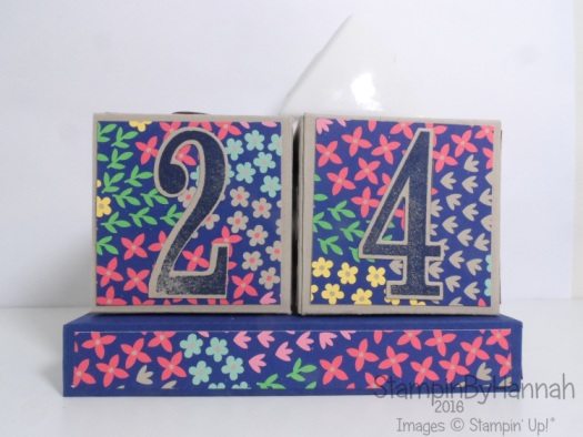 Christmas countdown perpetual advent calendar using Affectionately Yours from Stampin' Up! UK