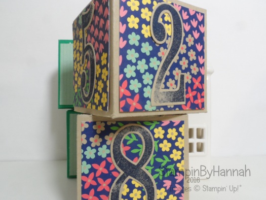 Perpetual Calendar using Large Numbers and Affectionately Yours from Stampin' Up! UK