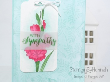 Sympathy card watercoloured gifts of love card using Stampin' Up! UK products