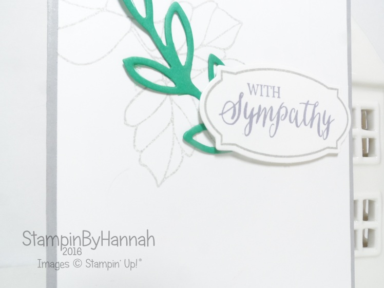 Quick and Easy Sympathy card using Rose Wonder from Stampin' Up! UK