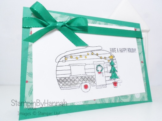 glamper greetings Christmas Card video tutorial make it monday using Stampin' Up! Uk products