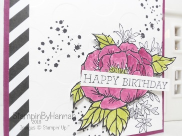 Birthday Blooms watercoloured birthday card using stampin' Up! uk products