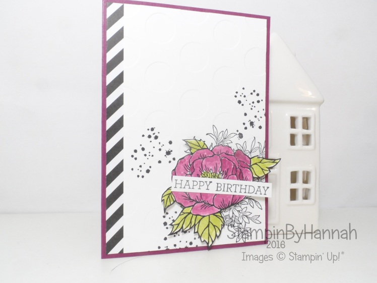 Watercolour birthday card using Awesomely artistic and birthday blooms from Stampin' Up!