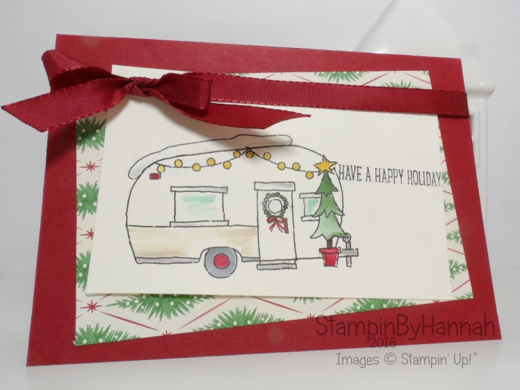 Pootles Design Team Glamper Greetings Christmas Card using Stampin' Up! UK Products