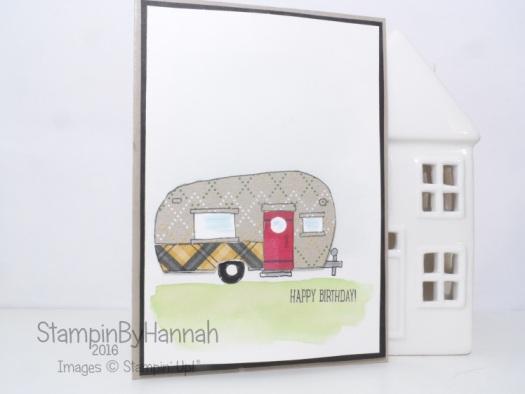 Pootles Design Team Glamper Greetings Paper Piecing Birthday card using Stampin' Up! UK stamps