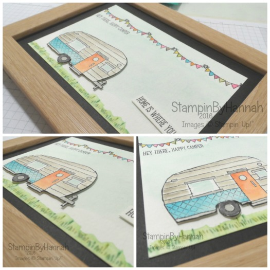 Home Is Where You Park It Pootlers Design Team Watercolour Home Decor using Glamper Greetings From Stampin' Up! UK