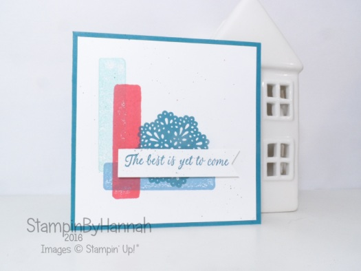 The Best is Yet to Come sketch challenge card using Frosted Medallions from Stampin' Up! UK